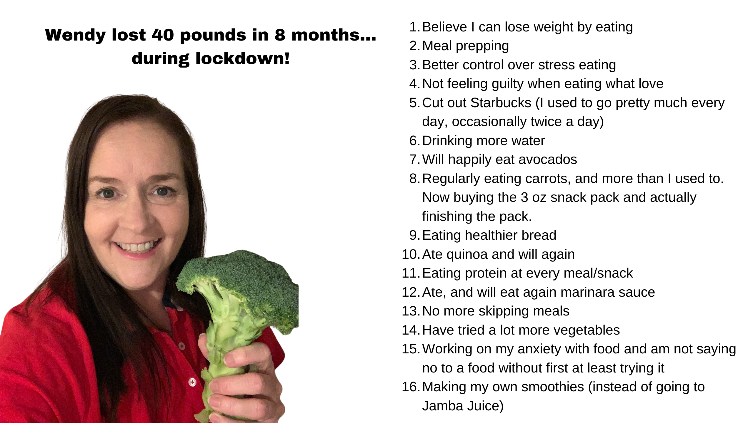 Wendy's Five Secrets to How She Lost 40 Pounds During Lockdown