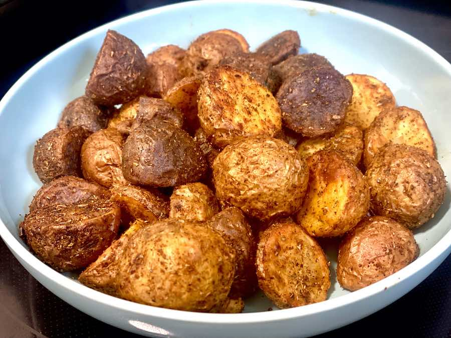 Air Fryer Small Tricolored Potatoes with Paprika & Oregano