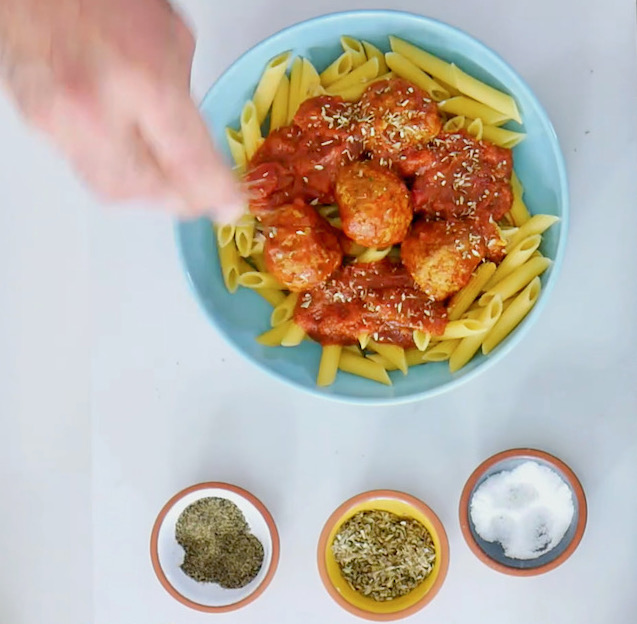 high protein meals pasta and meatballs